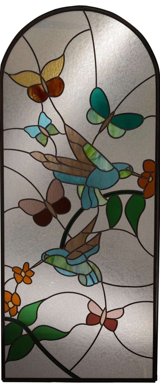 hummingbird and butterflies